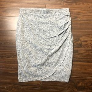 Reitman's Grey Mini Skirt Ruched Tulip Hem M